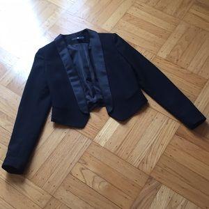H&M cropped black blazer
